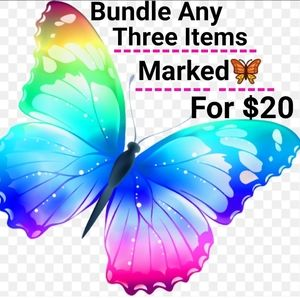 🦋 3 for $20